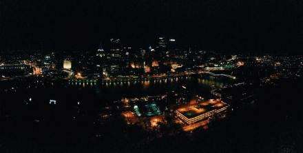 Pittsburgh, night, lights, city, Pennsylvania