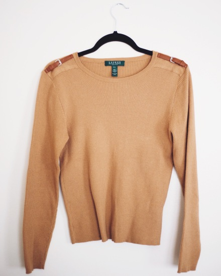 Ralph Lauren Sweater with Buckle Details